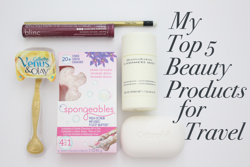 My Top 5 Beauty Products for Travel